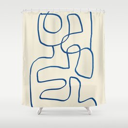 Abstract line art 16 Shower Curtain