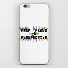 Keep Things in Perspective iPhone & iPod Skin