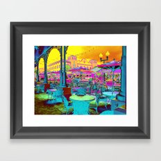 Through Rose Colored Glasses -Neon My Town Framed Art Print