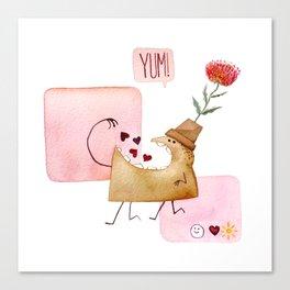 Underbite Valentine Canvas Print