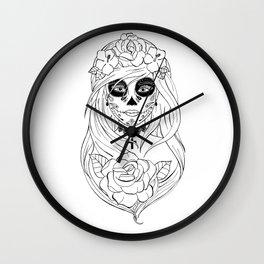 Santa Muerte NB Wall Clock