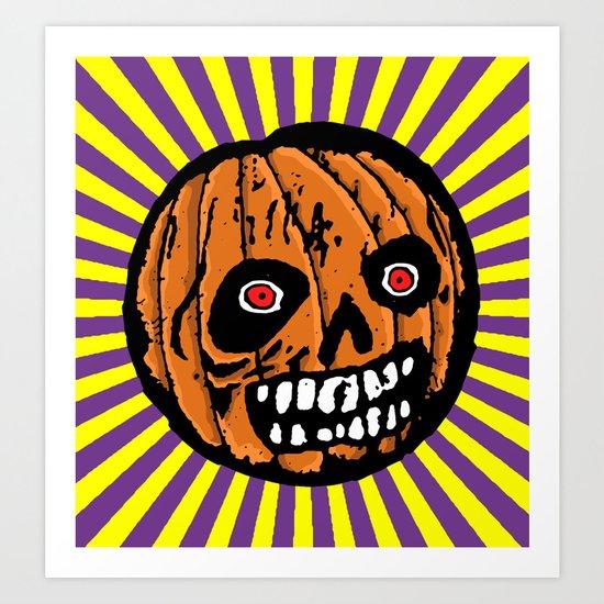 Jack-o-Lantern 2 Art Print