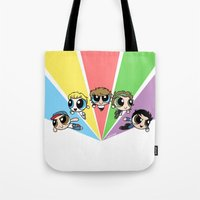 cyrilliart Tote Bags featuring Powerpuff!Direction by Cyrilliart