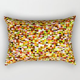 Red yellow pixel noise static pattern Rectangular Pillow