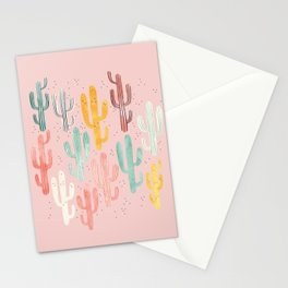Long Multicolored Cacti Stationery Cards
