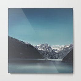 turquoise mountain lake Metal Print