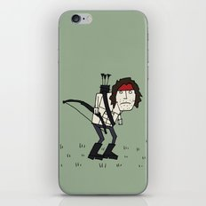 Sad John Rambo In A Field iPhone & iPod Skin