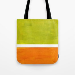 Retro Lime Green Minimalist Abstract Color Block Rothko Midcentury Modern Art Tote Bag