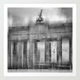 CityArt BERLIN Brandenburg Gate | monochrome Art Print