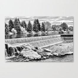 Idaho Falls - Winter Day Canvas Print