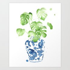 Ginger Jar + Monstera Art Print