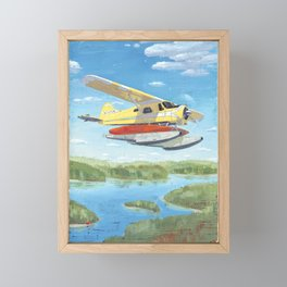 float plane - by phil art guy Framed Mini Art Print