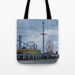Pleasure Pier - Galveston Texas Tote Bag