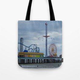 Pleasure Pier - Galveston Texas Tote Bag
