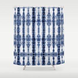 Tiki Shibori Blue Shower Curtain