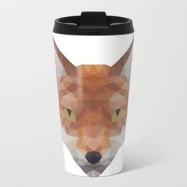 Polygonal Fox Metal Travel Mug