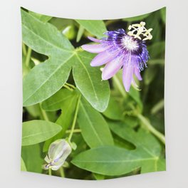 Purple Haze Perfume Passion Flower From Closed to Open Wall Tapestry
