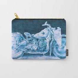 Harley 750cc XA Military Motorcycle BLUE Carry-All Pouch