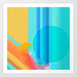 Colorful Circular Rainbows Art Print
