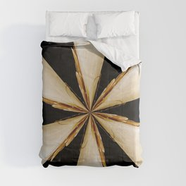 Black, White and Gold Star Comforters