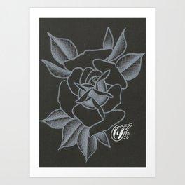 WhiteRose Art Print