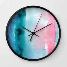 Turquoise love Wall Clock