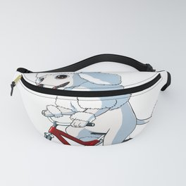 Dog Poodle On A Bicycle Fanny Pack