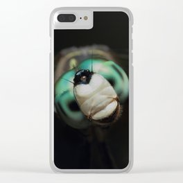 Cool Dragonfly Close-up Blue Darner Clear iPhone Case