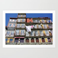 Riverfront Laundry Art Print