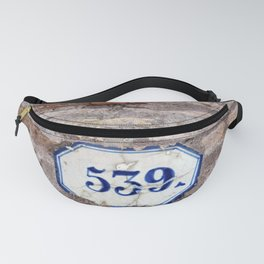 Number 539 on brick wall Fanny Pack