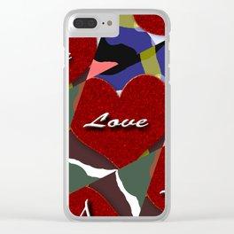 heart matter Clear iPhone Case