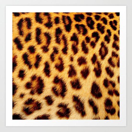 Leopard skin pattern Art Print