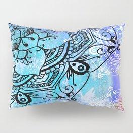 Bohemian Secret Blue & Pink Mandala Design Pillow Sham