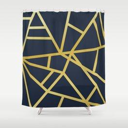Copper and Midnight Navy  #society6 #decor #buyart #artprint Shower Curtain