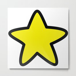 Cute doodle star with soft edges Metal Print