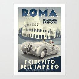 Roma Grand Prix Art Print