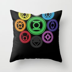Living In Colour Throw Pillow