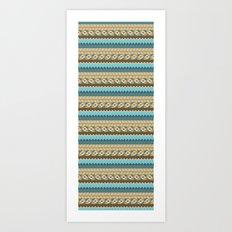 navajo pattern 3 Art Print