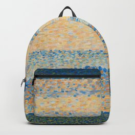 Georges Seurat - Seascape (Gravelines) Backpack
