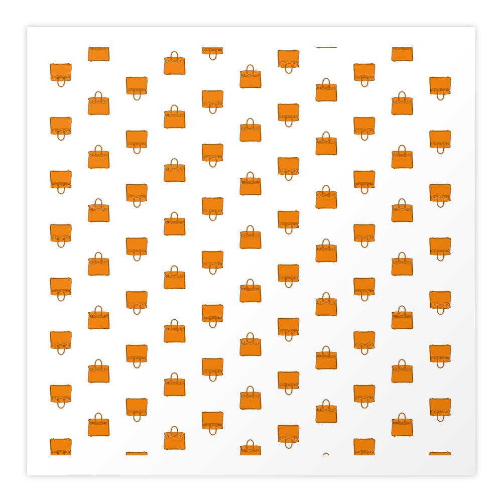Orange Birkin Vibes High Fashion Purse Illustration Art Print by therivalteam (PRN8661551) photo