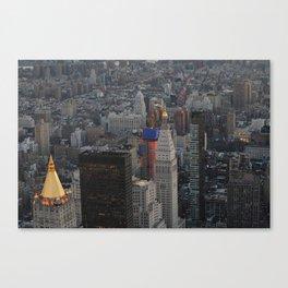 golden peaks: New York Canvas Print