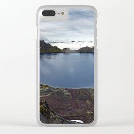 Crater lake of active volcano on Kamchatka Peninsula Clear iPhone Case