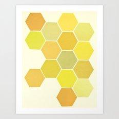 Shades of Yellow Art Print