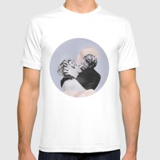 THE KISS White SMALL Mens Fitted Tee