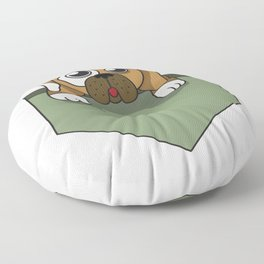 Dog lover pocket animal, boy, cool, cute, dog, friend, funny, geek, happy, home, lovable, paws, pet Floor Pillow