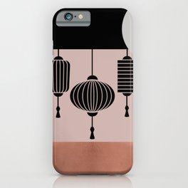 Mid-Century Minimalist Japan Lamps Graphic iPhone Case