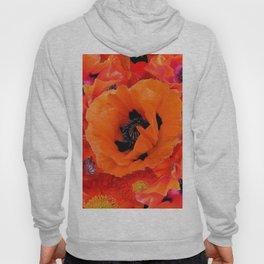 DECORATIVE ORANGE POPPY FLOWERS COMPOSITION Hoody
