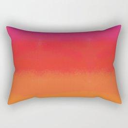 red orange color field Rectangular Pillow