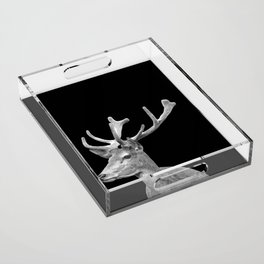 Deer Black Acrylic Tray