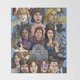 27 Club Throw Blanket